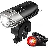 LED Bike Lights Front and Back, TaoTronics 700 Lumens Bicycle Lights, Rechargeable Bike Light Set, Bike Headlight, IP65 Waterproof, Cree LED, Free Tail Light and Helmet Mount Include