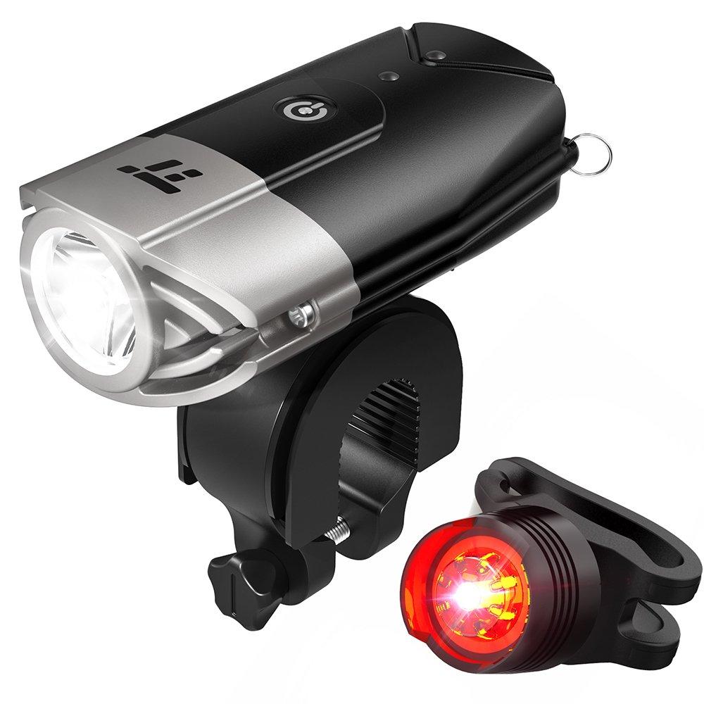 taotronics tt hp007 led bike lights front back 700 lumens bicycle lights rechargeable bike. Black Bedroom Furniture Sets. Home Design Ideas