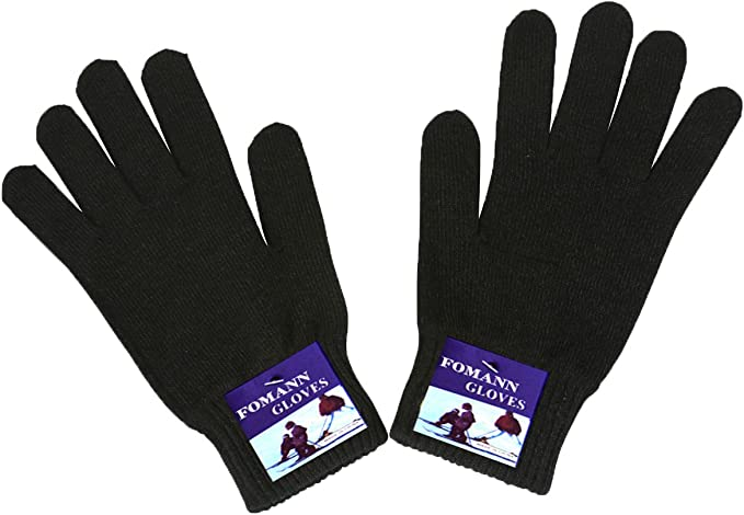 12 Pair/'s Classic Magic Winter Warm Glove Knitted One Size Fit All Black