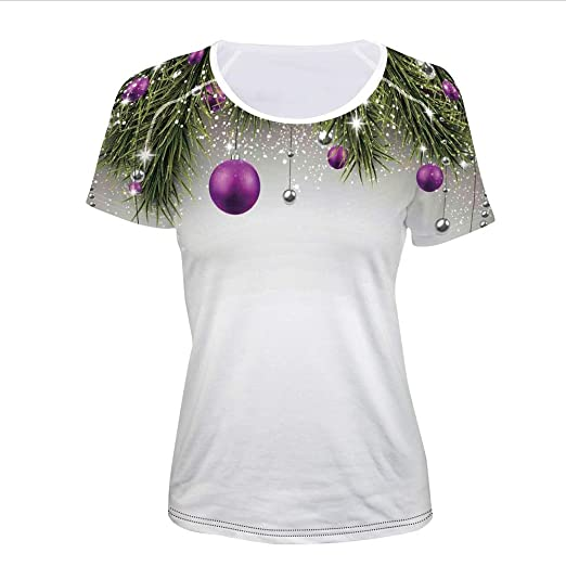 Amazoncom T Shirt Pictures Print Decorations Tinsel And Ball With