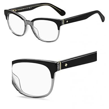 e2760144b173 Image Unavailable. Image not available for. Color  Eyeglasses Kate Spade  Carolanne 008A Black Gray