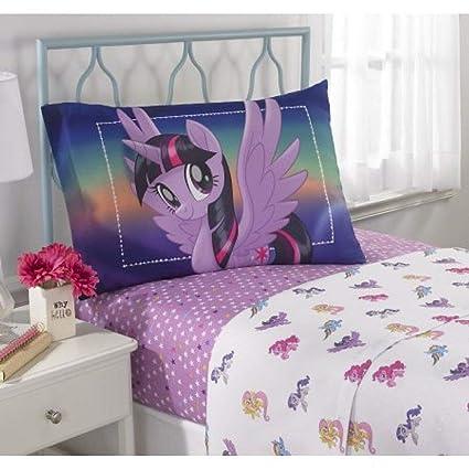 Lenzuola My Little Pony.My Little Pony Movie Microfiber Twin Bedding Sheet Set