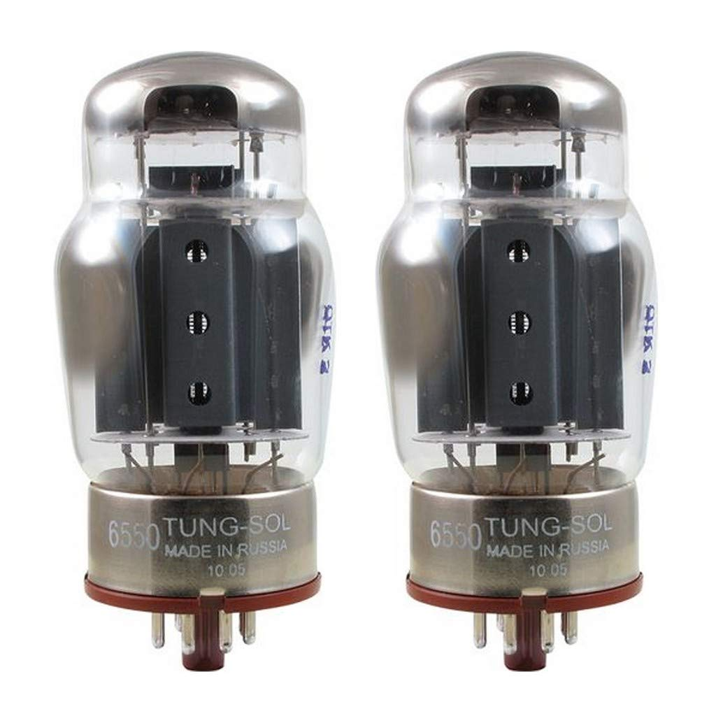 New Plate Current Matched Pair (2) Tung-Sol Reissue 6550 KT88 Coke Bottle Tubes by Tung-Sol