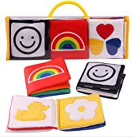 XLKJ 3 Piezas Libros Blandos para Bebes Libros