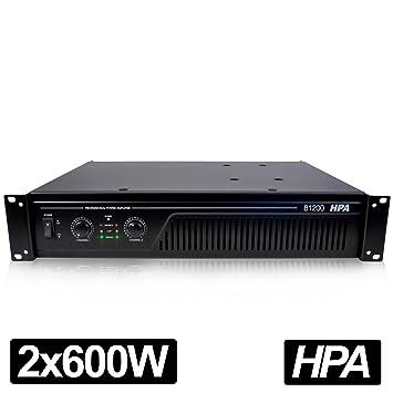 Pro DJ HPA-Amplificador de sonido 1200W RMS