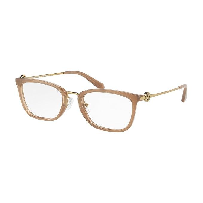 Michael Kors 0MK4054, Monturas de Gafas para Mujer, Dusty Brown, 52