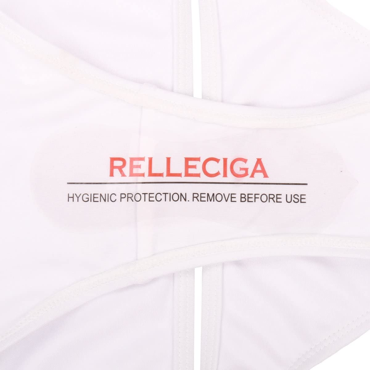 RELLECIGA Halter Black Push-up Swimwear with Criss Cross Triangle Top & Double-String Bottom White