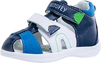 f669ff61d5939 Kotofey Boys Blue Sandals 122110-22 Genuine Leather Orthopedic Sandals with  Arch Support