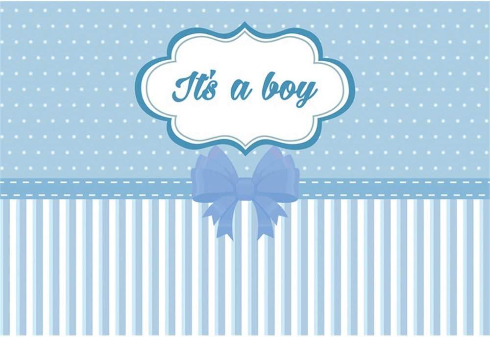 YongFoto 2,2x1,5m Baby Shower Fotografía Fondo Es un niño Corbata ...