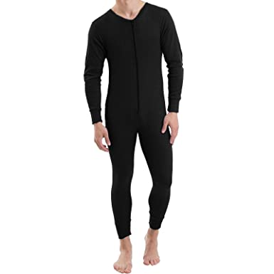 MENS THERMAL ONESIE ALL IN ONE UNDERWEAR SET BASELAYER ZIP BODY SUIT SKI S  XXL  Amazon.co.uk  Clothing 77f260d10