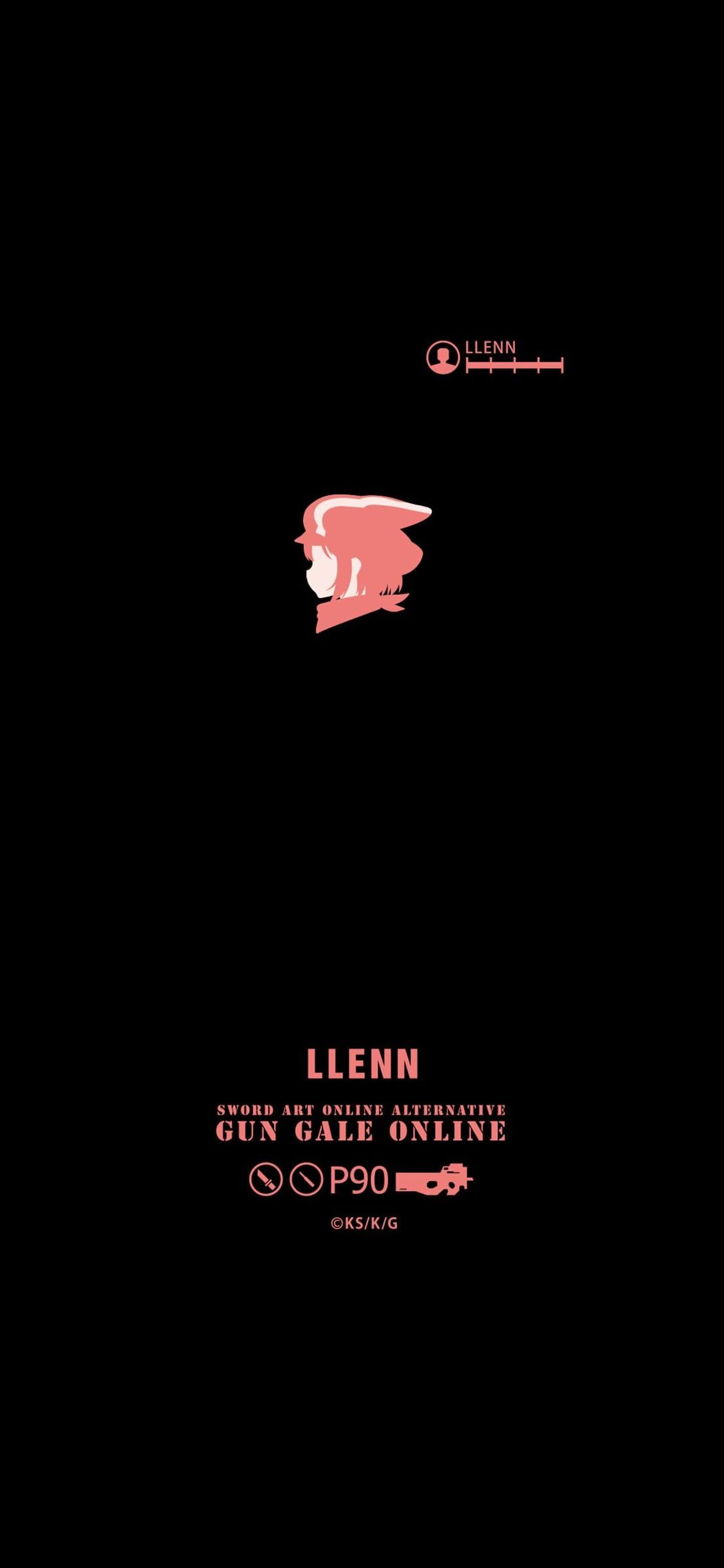ソードアートオンライン オルタナティブ ガンゲイル・オンライン レンの横顔 iPhone X 壁紙(1125x2436)画像