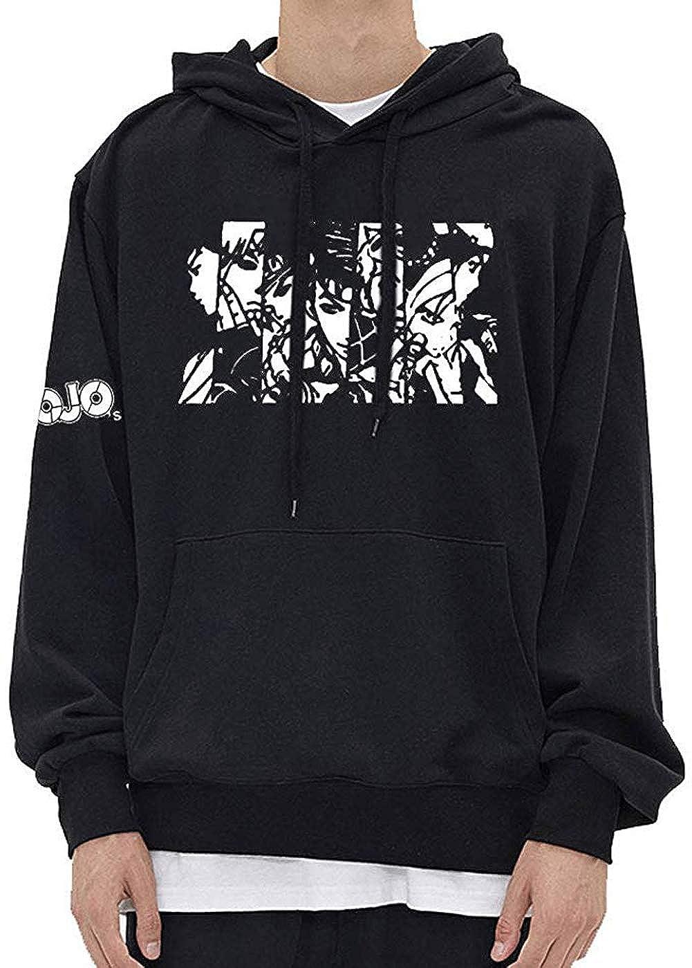 Amke JoJos Bizarre Adventure Jotaro Kujo Hooded Sweater Printed Kujo Jotaro Hoodie Coat