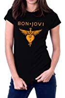 Bon Jovi Band Heart Logo Jon Womens T-Shirt