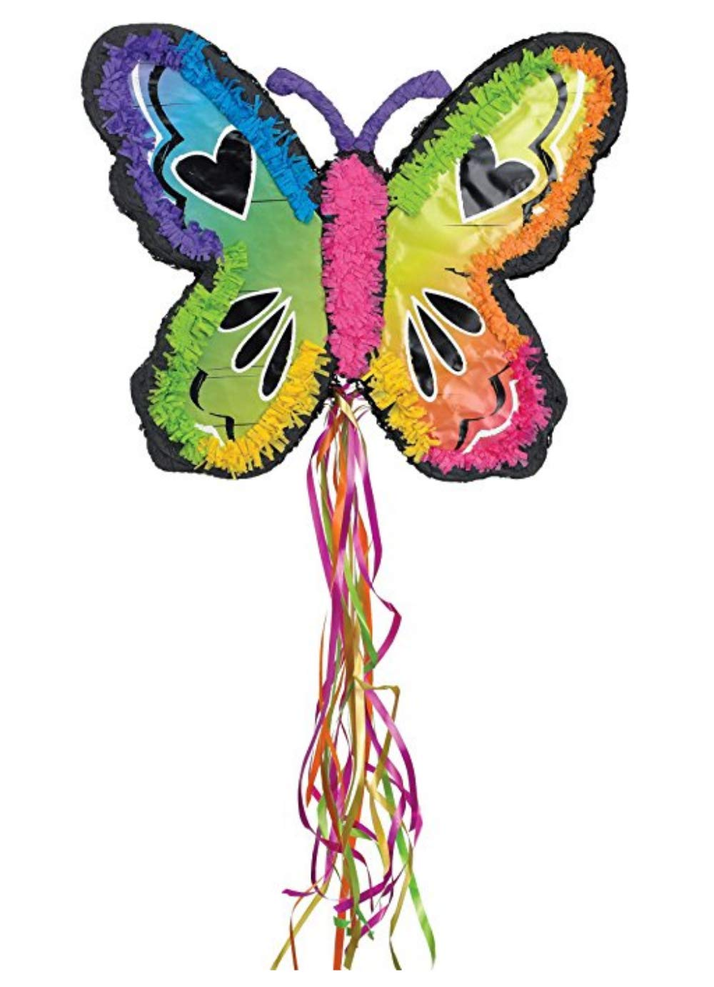 Filled Ya Otta Pinata Neon Butterfly Mexican Style Party Supplies Bundle with 2 pounds of Pi/ñata Candy Filler and an eBook on Activities for Kids Birthday Parties