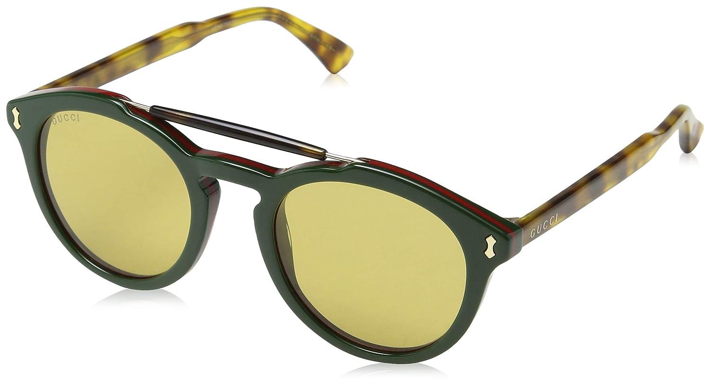 Gucci GG0124S 005 Gafas de sol, Verde (Green/Brown), 50 para Hombre
