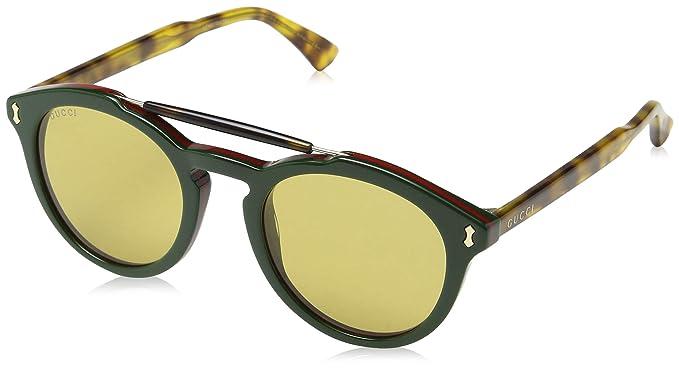 Gucci GG0124S 005, Gafas de Sol para Hombre, Verde (Green/Brown)