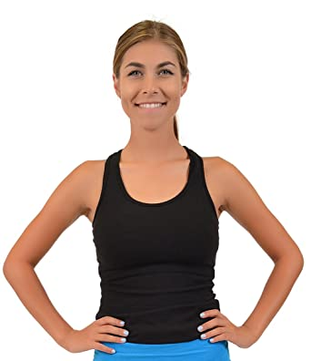 75e356395b3 Stretch is Comfort Women s Teamwear Cotton Racerback Tank Top at ...