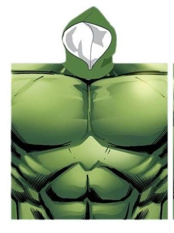 Mon-Tex Mills Marvel Avengers Incredible Hulk Hooded Bath Poncho Towel