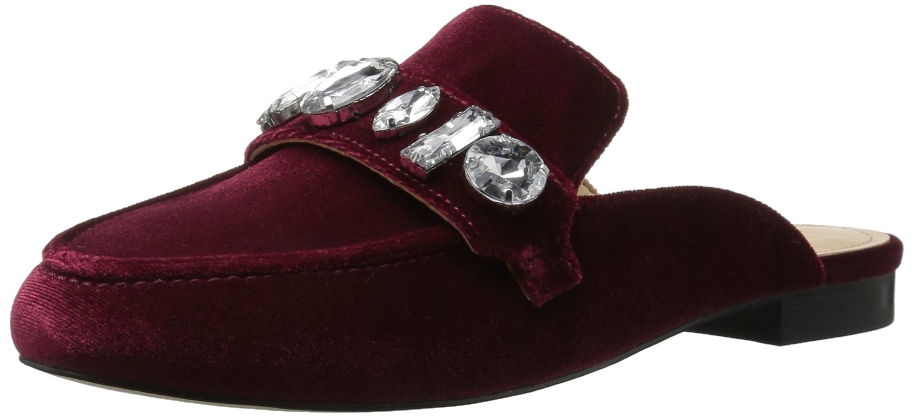 The Fix Women's Francesca Slip-On Loafer with Large Jewels, Bordeaux, 8.5 B US