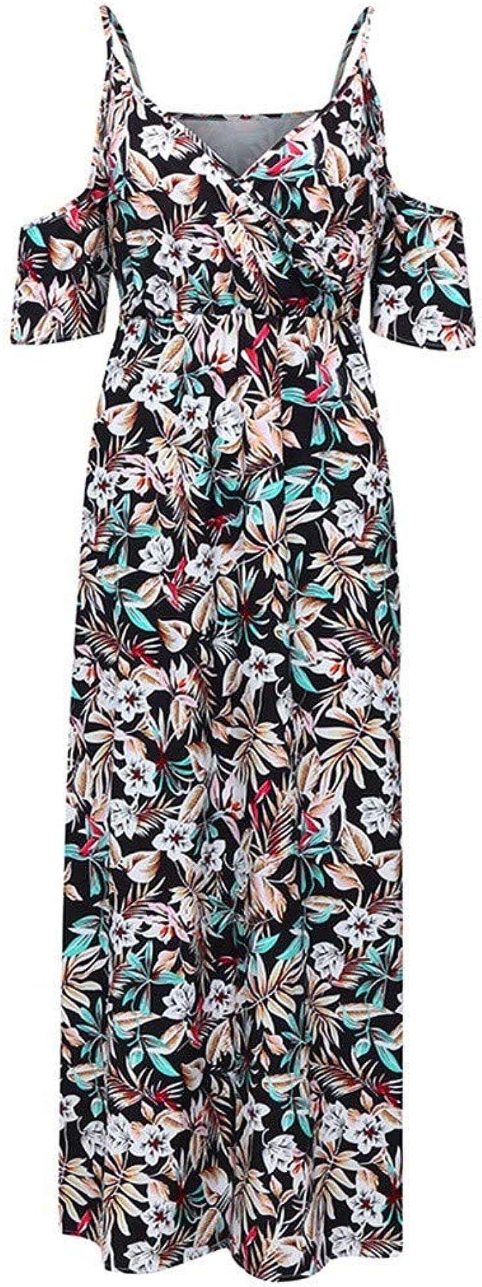 ✔ Hypothesis/_X ☎ Women Boho Long Dress Plus Size Sleeveless Linen Print Dress Patchwork Casual Loose Maxi Dress