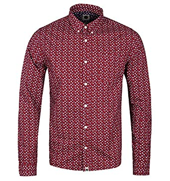 12bd7006424 Pretty Green Rindle Red Floral Slim Fit Shirt-EXTRA LARGE  Amazon.co.uk   Clothing