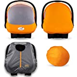 Cozy Combo Pack (Orange Mango) – Sun & Bug Cover Plus a Lightweight Summer Cozy Cover - Trusted by Over 6 Million Moms Worldw