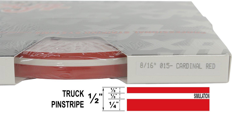 "8//16 x 150 1//4/"" Stripe, 1//8 Gap, then 1//8/"" Stripe - 065-White Universal TFX 0008065 Auto Truck Customizing Dual Pinstripe"