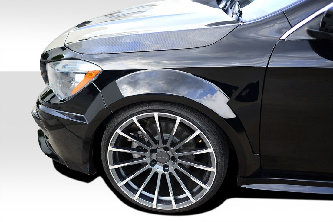 Duraflex Replacement for 2014-2015 Mercedes CLA Class Black Series Look Wide Body Front Fenders - 2 Piece