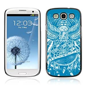 Designer Depo Hard Protection Case for Samsung Galaxy S3 / Owl Tattoo Pattern