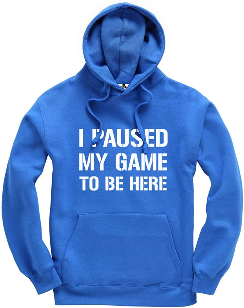 I Paused My Game to Be Here Funny Gamer felpa con cappuccio unisex per bambini e adulti