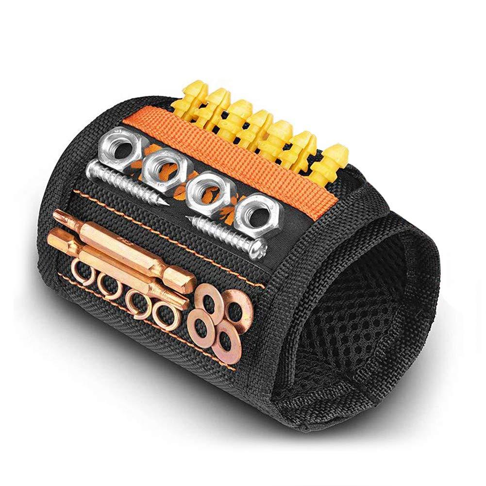 Magnetische Armbä nder mit 15 Leistungsstarken Magneten, AxeBon Magnetarmband mit Halten elastisches Band fü r Halte schrauben, Bits, Nä gel, Dü bel, kleine Werkzeuge fü r DIY Handwerker, Vater, Ehemann