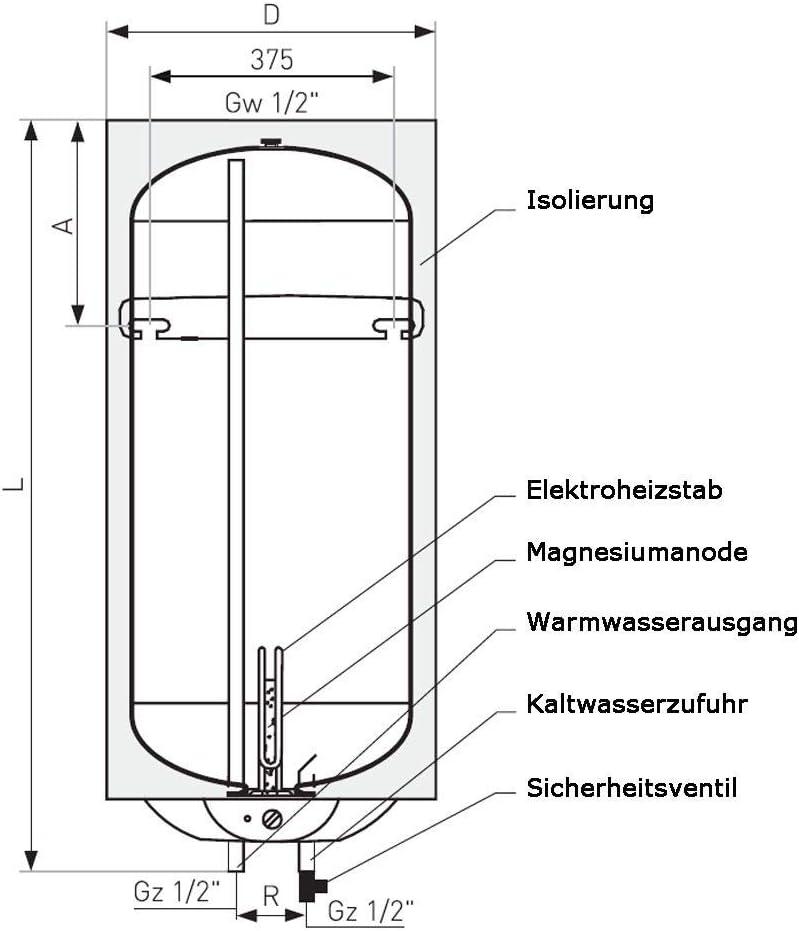 100 Liter Warmwasserboiler Vulcan Elektronik Pro
