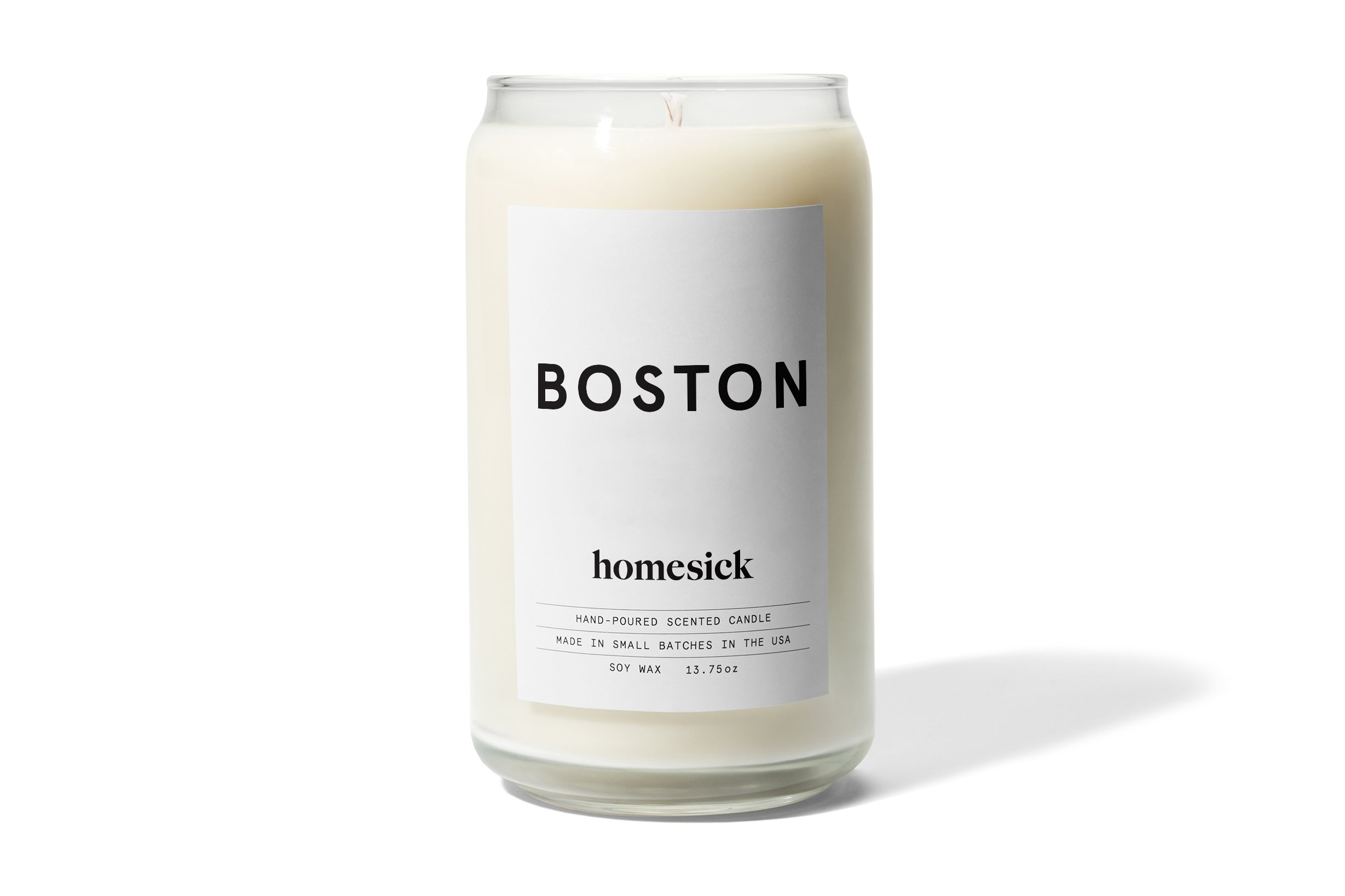 Homesick Scented Candle, Boston - Smells like spiced tea with nutmeg, cinnamon and clove; orange citrus and ginger with notes of vanilla sugar recollect memories of the City on a Hill 60-80 hour burn time All natural soy wax - living-room-decor, living-room, candles - 61H5hAC15RL -