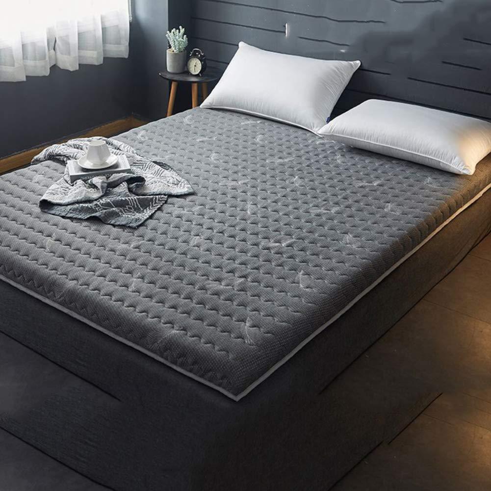 ラテックス 厚く ベッド マットレス パッド, 高密度 高弾性 敷き布団パッド トッパー パッド 折り畳み式 記憶泡 ポケットコイルマットレス-C 90x190x4cm B07QSQVFQ6 C 90x190x4cm