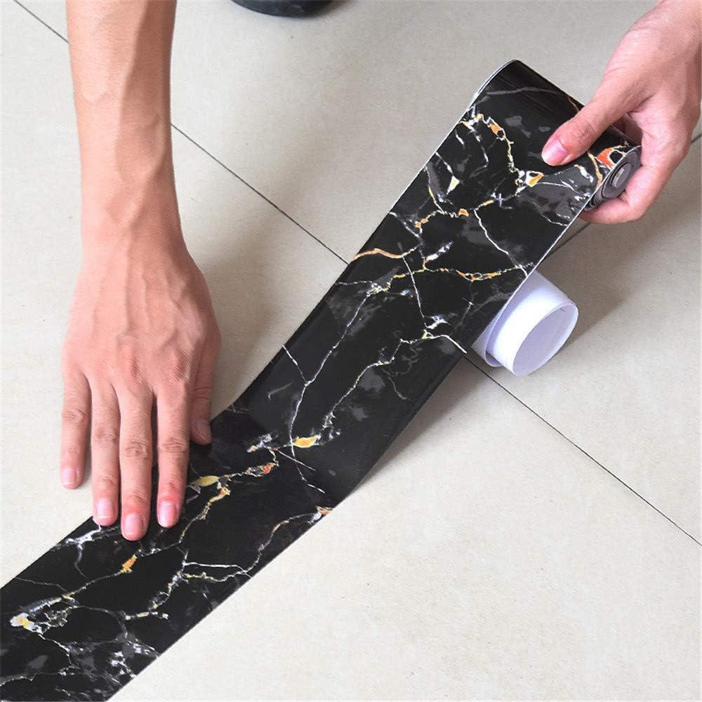 Cr/éation PVC, 10 m A.S Negro Cenefa autoadhesiva para pared