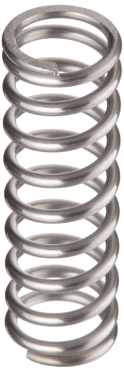 302 Stainless Steel 53.98 lbs//in Spring Rate 15.62 lbs Load Capacity 0.75 Free Length 0.059 Wire Size 0.461 Compressed Length Inch Pack of 10 Compression Spring 0.48 OD