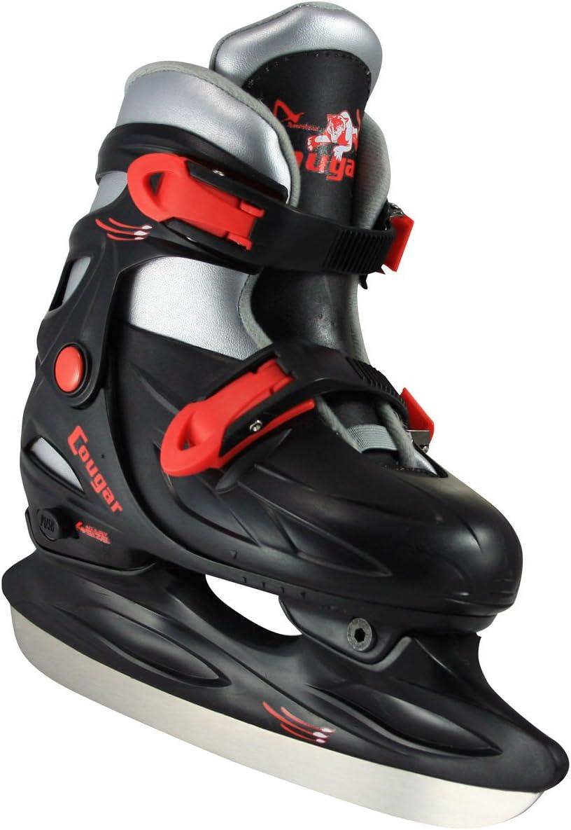 American Athletic Shoe Cougar Adjustable Hockey Skates : Ice Skating Figure Skates : Sports & Outdoors