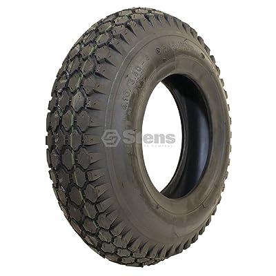 "Stens 160-308 Kenda Tire, 4.10"" x 3.50""-6"" Stud, 2-Ply,Black: Industrial & Scientific"