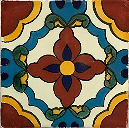 Amazon.com: 4,25 x 4,25 azulejos de auténticos hermoso ...