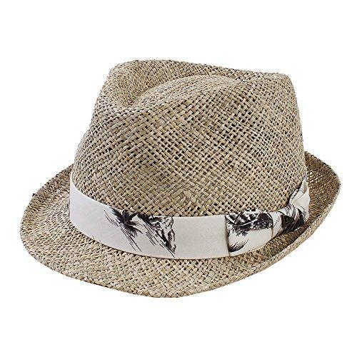 (ニューエラ) NEW ERA ゴルフ 麦わら帽子 トリルビーハット シーグラス GOLF M/L 約59cm