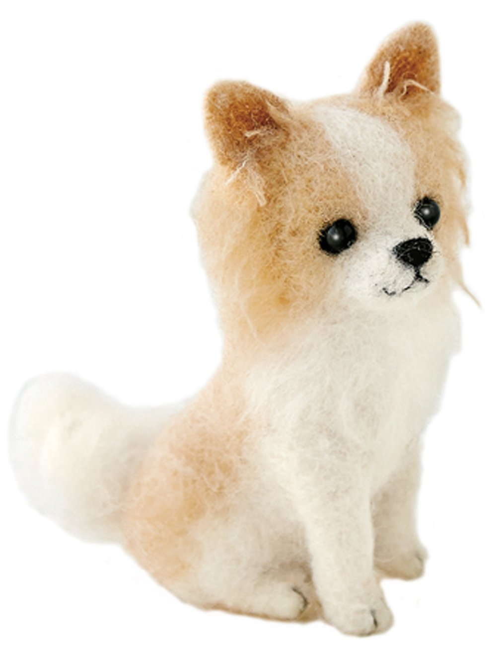 Hamanaka made of felt wool kit fluffy wool, felt dog Chihuahua (long coat) H441-422 Designed by Susa SunaTomoko