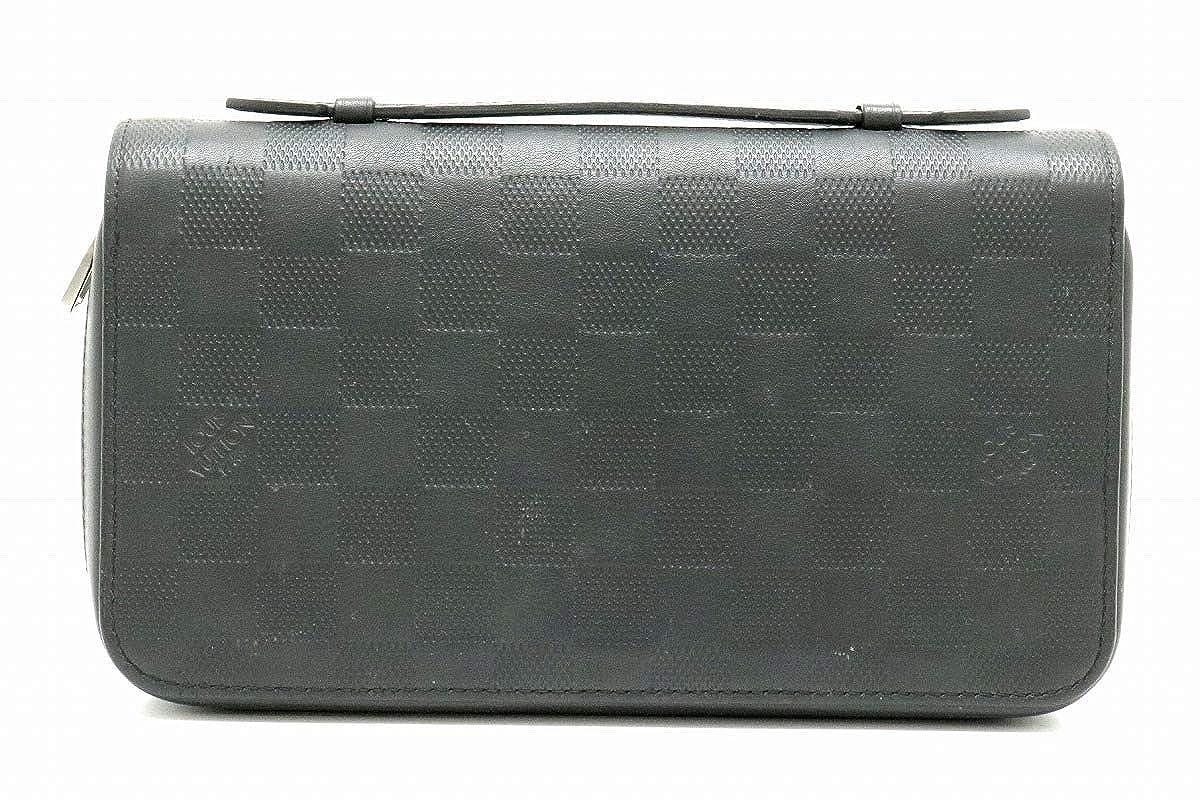 [ルイ ヴィトン] LOUIS VUITTON ダミエアンフィニ ジッピー XL ハンドル付 セカンドバッグ メンズ クラッチバッグ レザー オニキス 黒 ブラック N61254 [中古] B07NKSW4B1