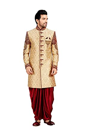 29645356365e3 Amazon.com: Heavy work Exclusive Sherwani Set for men wedding Dress for  Groom from India: Clothing