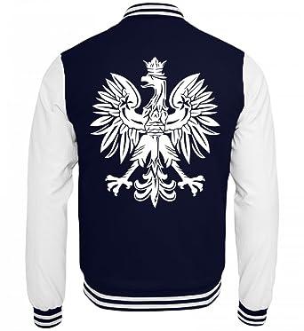Hochwertige College Sweatjacke - Wappen Polen Polnische Flagge ...