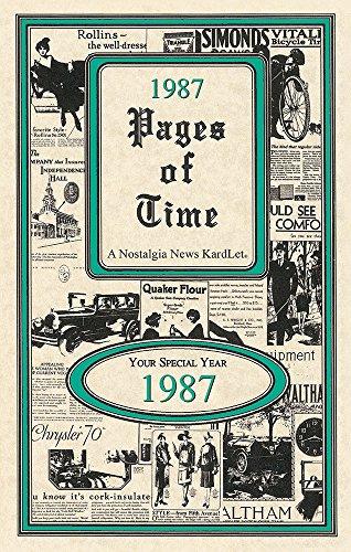 Seek Publishing 1987 Pages of Time Kardlet (PT1987)