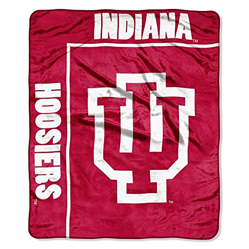 The Northwest Company Officially Licensed NCAA Indiana Hoosiers School Spirit Plush Raschel Throw Blanket, 50
