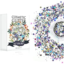Icy Beauty - Iridescent Cosmetic Glitter, Chunky Glitter Festival,Shining Makeup Glitter for Beauty Makeup Face Body Hair Nails