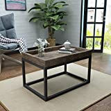 Halo Rustic Finished Faux Wood Coffee Table with Black Iron Frame Review