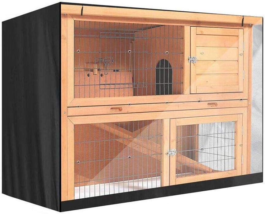 PRETTYLE Funda Universal para Conejo, Impermeable, para Jaula de Conejo, Cubierta de Polvo para Conejo, 122 x 50 x 105 cm