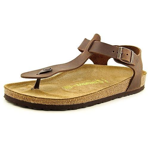 19cc29abb95 Birkenstock Kairo Men US 9 N Brown Thong Sandal  Amazon.co.uk  Shoes   Bags